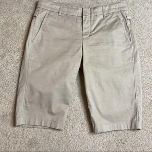 Vince. Bermuda Shorts Side Buckle Khaki Size 2